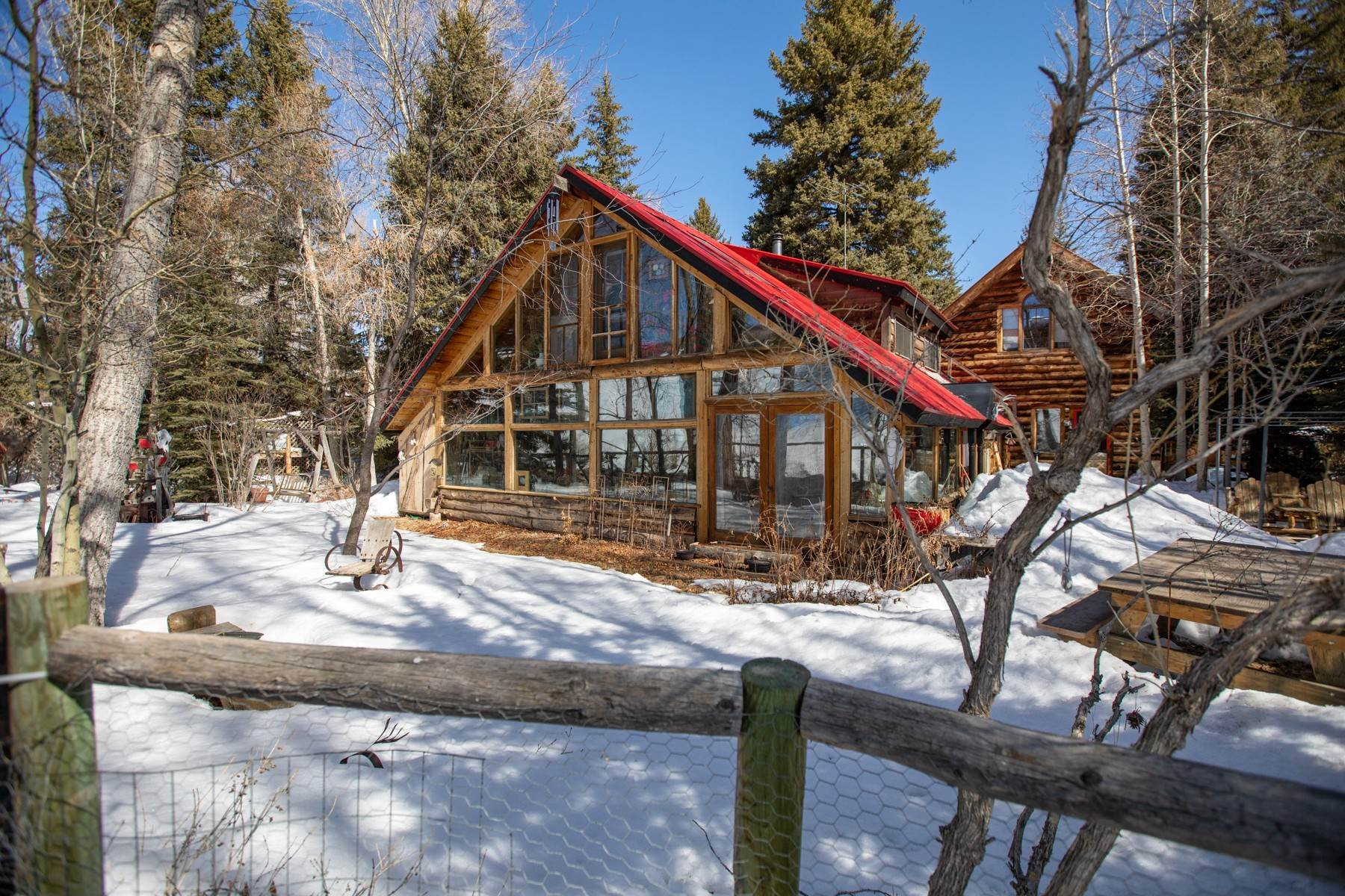 Single Family Homes for Sale at Quaint Cabin on the East River 170 Lower Allen Road Crested Butte, Colorado 81224 United States