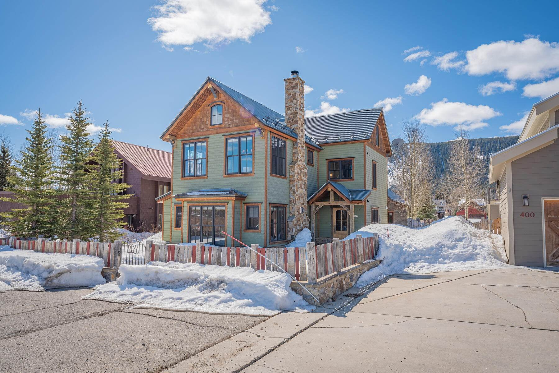 Single Family Homes for Sale at Extraordinary Home with the Best of Paradise Divide Valley Views 404 Butte Avenue Crested Butte, Colorado 81224 United States
