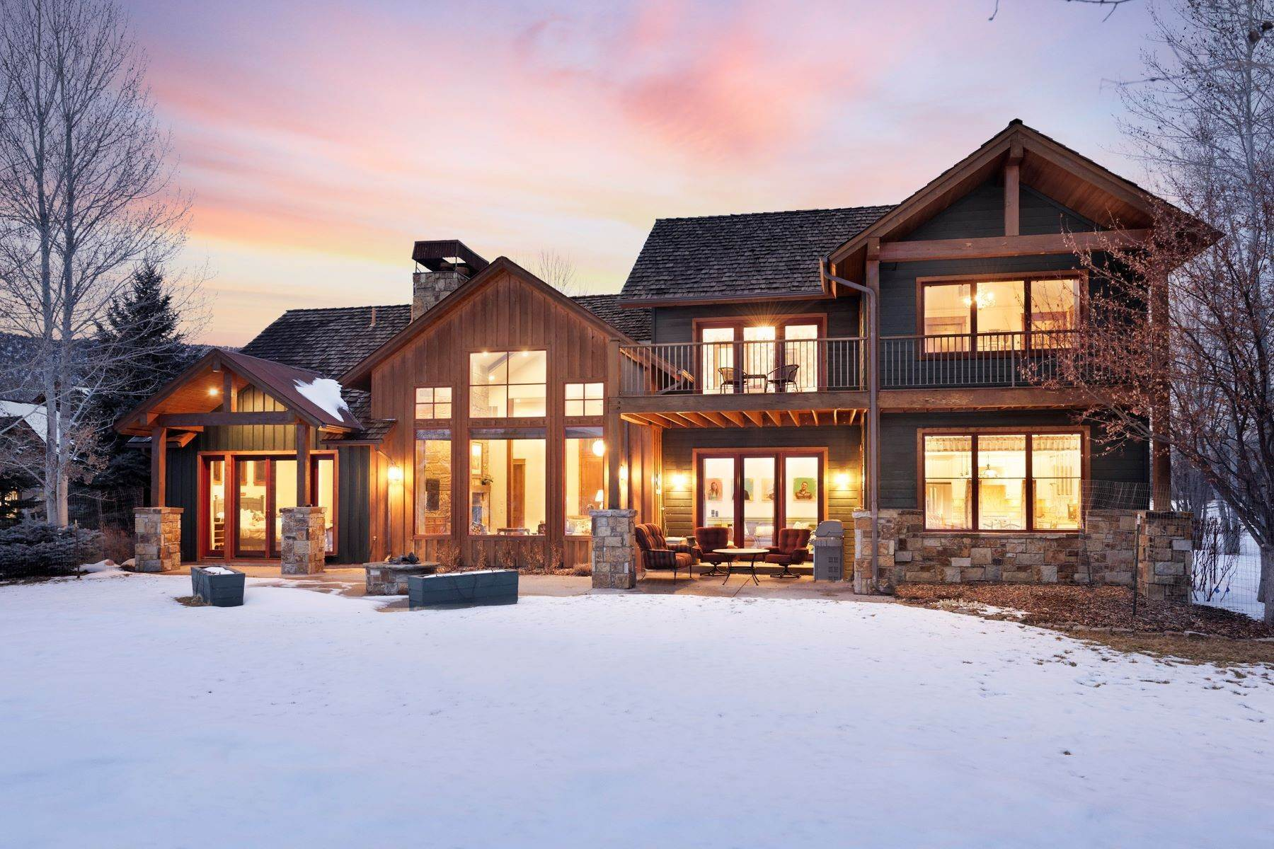 Single Family Homes for Sale at Custom Dream Home on 17th fairway 132 Diamond A Ranch Road Carbondale, Colorado 81623 United States