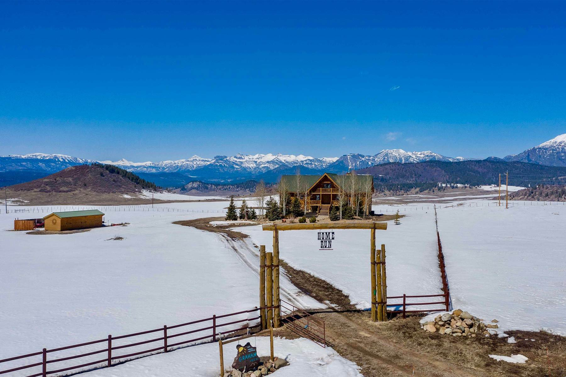 Single Family Homes for Sale at The Home Run Ranch - Log Estate in Pagosa Springs 75 W Pyramid Drive Pagosa Springs, Colorado 81147 United States